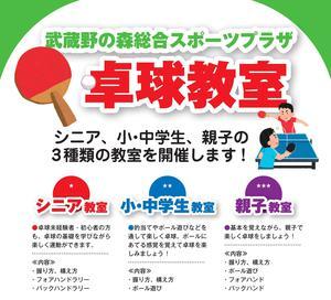 武蔵野の森総合スポーツプラザ 卓球教室のイメージ写真